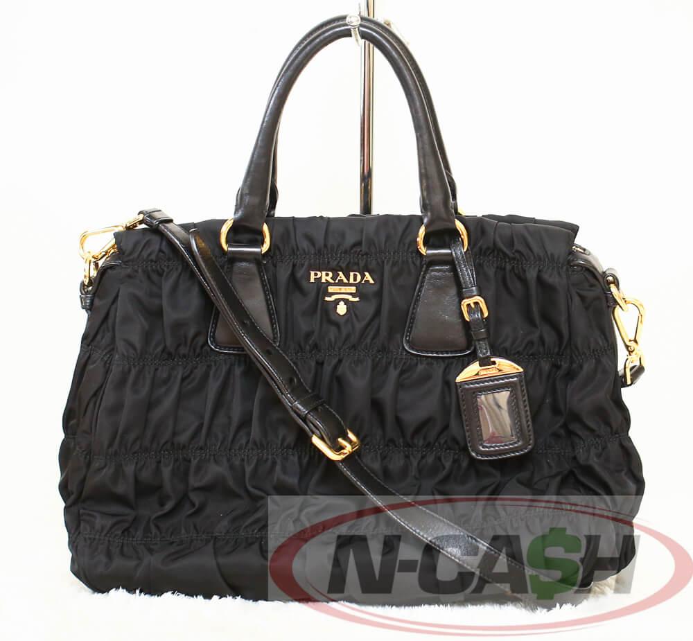 6e883bc9db9b ... norway sale authentic 1890 prada black tessuto nylon gaufre tote bag  b1336m c9997 57791