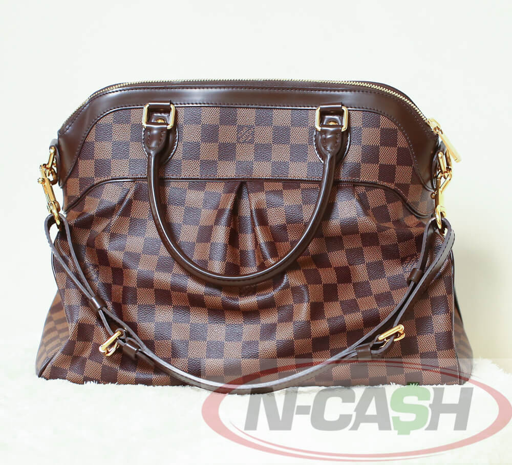 d8e0333f4ccb Authentic  1725++ Louis Vuitton Damier Ebene Trevi GM 2011 Gold HW LV Bag