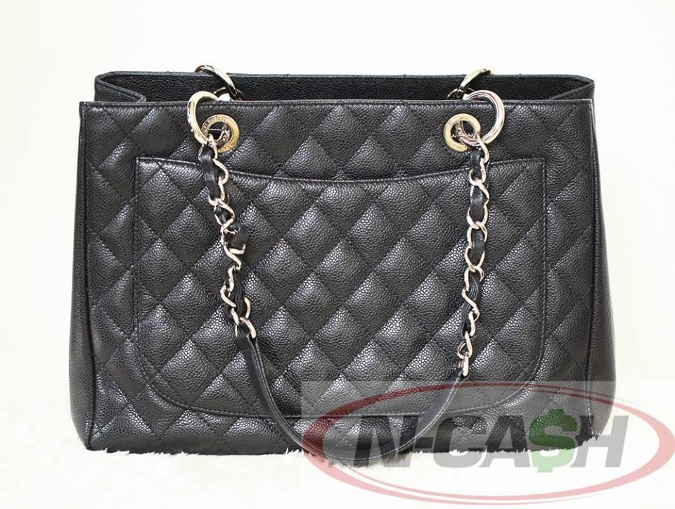 9f7339eff272 Authentic $2900 CHANEL GST Grand Shopping Tote in Black Caviar SHW 14series