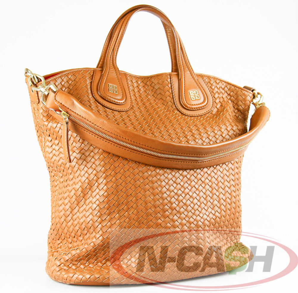 Givenchy Brown Lambskin Woven Nightingale Shopper Tote GHW  c57adaf1c71d5