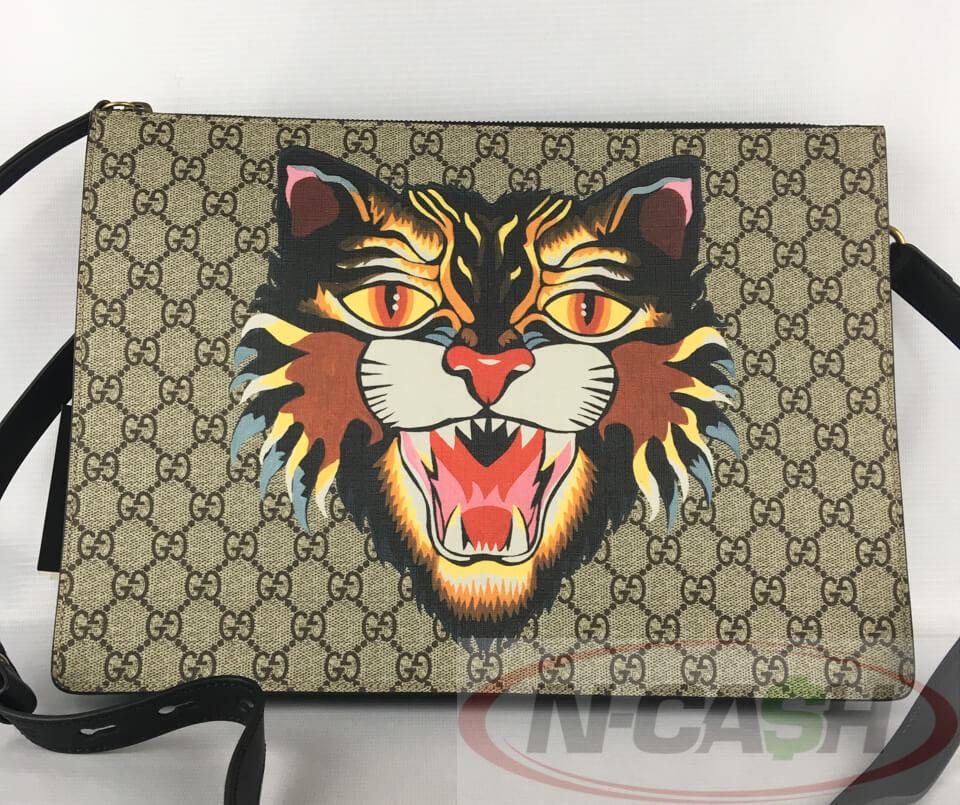 2619cf53d110 Gucci Angry Cat Supreme Messenger Bag | N-Cash